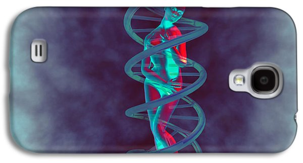 Woman And Dna Galaxy S4 Case by Christian Darkin