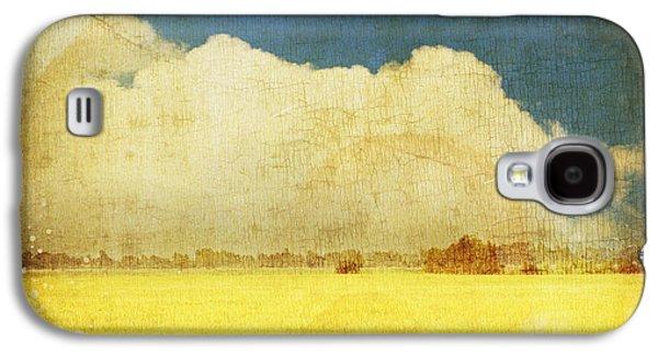 Yellow Field Galaxy S4 Case by Setsiri Silapasuwanchai