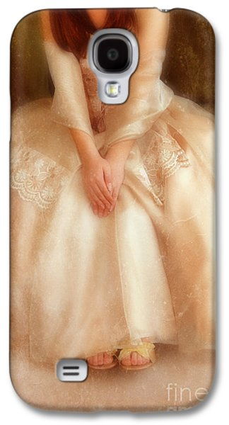 Young Lady Sitting In Satin Gown Galaxy S4 Case