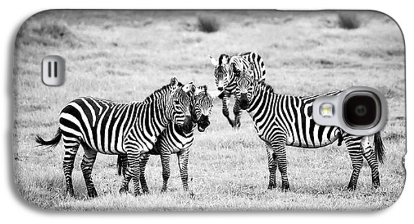 Zebras In Black And White Galaxy S4 Case by Sebastian Musial