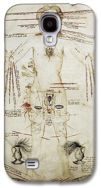 Zodiacal Man, 15th Century Galaxy S4 Case
