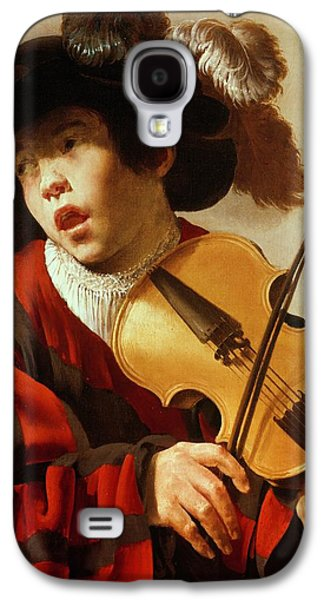Violin Galaxy S4 Case -  Boy Playing Stringed Instrument And Singing by Hendrick Ter Brugghen