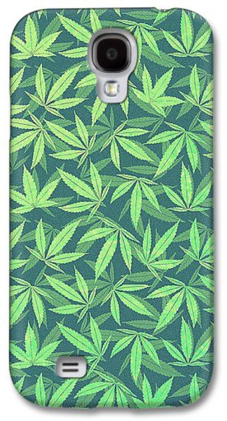 Cannabis   Hemp  420   Marijuana  Pattern Galaxy S4 Case