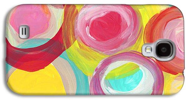 Colorful Sun Circles Panoramic Horizontal Galaxy S4 Case by Amy Vangsgard