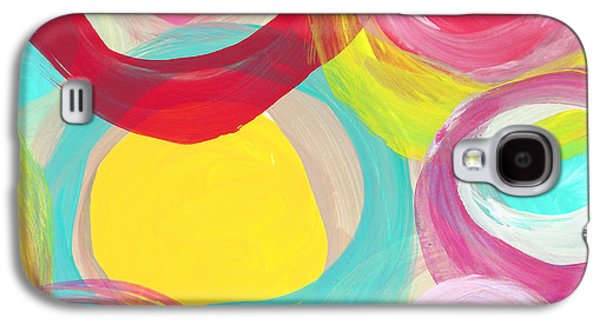 Colorful Sun Circles Square 2 Galaxy S4 Case by Amy Vangsgard