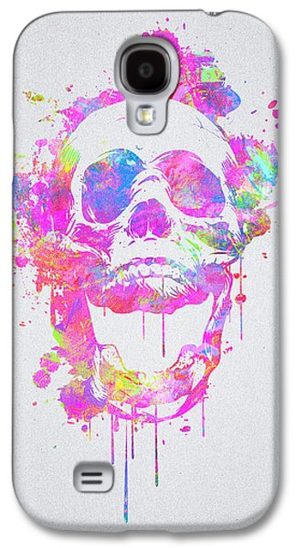 Cool And Trendy Pink Watercolor Skull Galaxy S4 Case