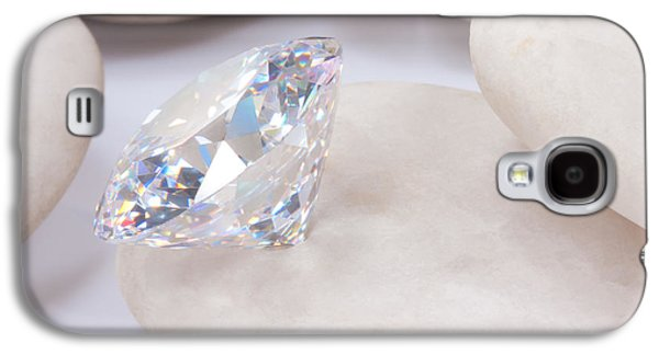Diamond On White Stone Galaxy S4 Case