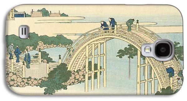Drum Bridge Of Kameido Tenjin Shrine From The Series Wondrous Views Of Famous Bridges In All The Pr Galaxy S4 Case by Katsushika Hokusai