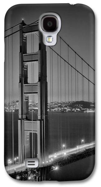 Golden Gate Bridge At Night Monochrome Galaxy S4 Case by Melanie Viola