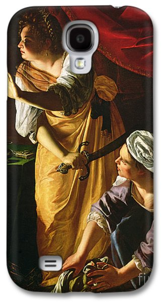 Judith And Maidservant With The Head Of Holofernes Galaxy S4 Case by Artemisia Gentileschi
