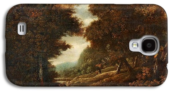 Landscape With Figures And Waterfall. Galaxy S4 Case by MotionAge Designs