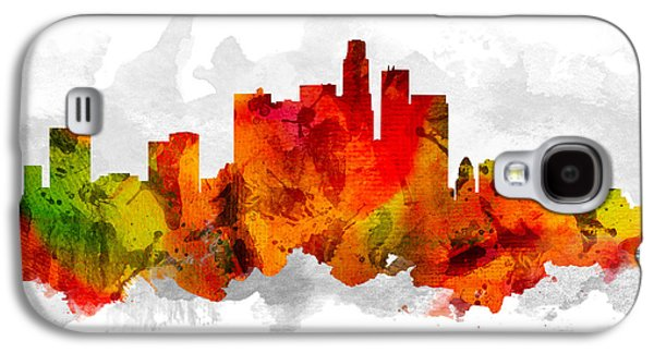Los Angeles California Cityscape 15 Galaxy S4 Case by Aged Pixel