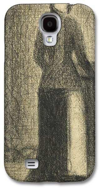 Nurse With A Childs Carriage  Galaxy S4 Case by Georges-Pierre Seurat