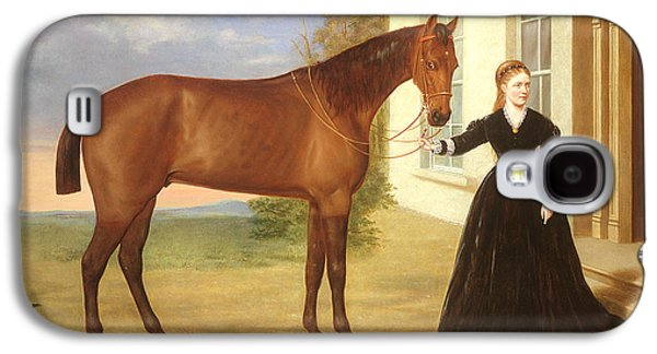 Portrait Of A Lady With Her Horse Galaxy S4 Case