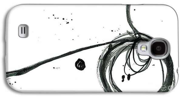 Revolving Life Collection - Modern Abstract Black Ink Artwork Galaxy S4 Case by Patricia Awapara