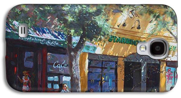 Main Street Galaxy S4 Cases -  Starbucks Hangout Galaxy S4 Case by Ylli Haruni