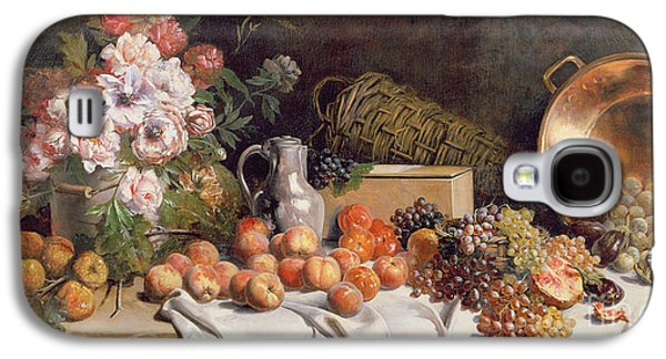 Still Life With Flowers And Fruit On A Table Galaxy S4 Case by Alfred Petit