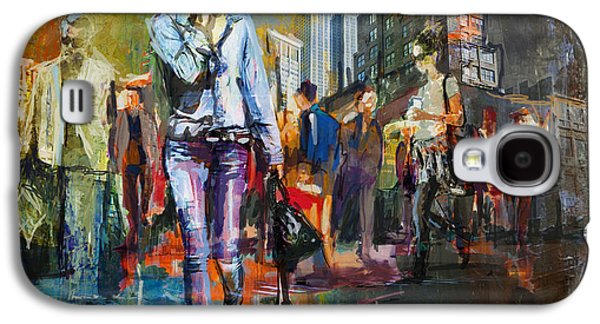 066 Ny Manhattan Street View New York Galaxy S4 Case by Maryam Mughal