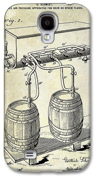 1900 Beer Keg System Patent Galaxy S4 Case