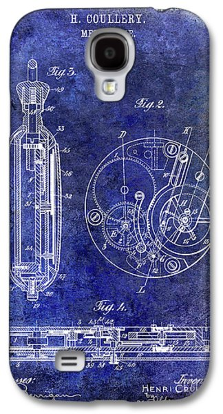 1913 Pocket Watch Patent Blue Galaxy S4 Case