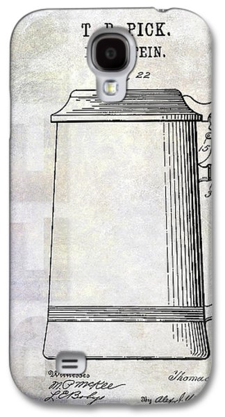1914 Beer Stein Patent Galaxy S4 Case by Jon Neidert