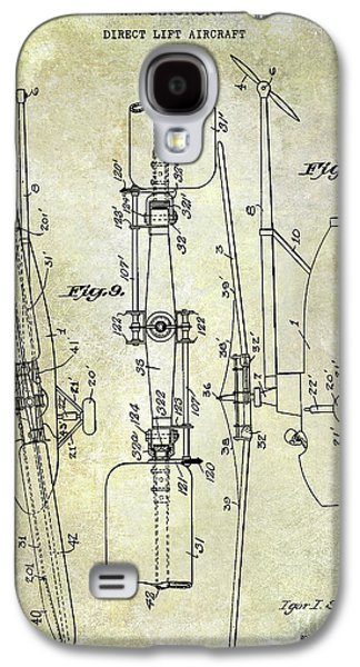 Helicopter Galaxy S4 Case - 1935 Helicopter Patent  by Jon Neidert