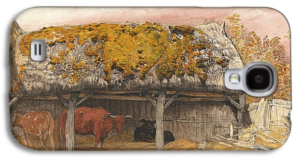 A Cow Lodge With A Mossy Roof Galaxy S4 Case