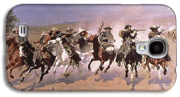 A Dash For The Timber Galaxy S4 Case by Frederic Remington