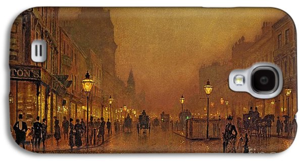 A Street At Night Galaxy S4 Case by John Atkinson Grimshaw