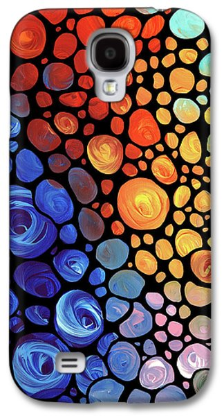 Abstract Art Canvas Paintings Galaxy S4 Cases - Abstract 1 Galaxy S4 Case by Sharon Cummings