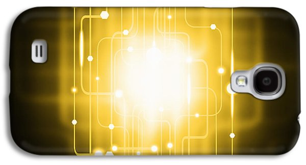 Abstract Circuit Board Lighting Effect  Galaxy S4 Case by Setsiri Silapasuwanchai