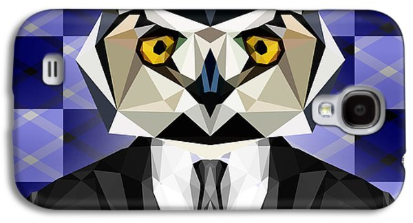 Abstract Owl Galaxy S4 Case
