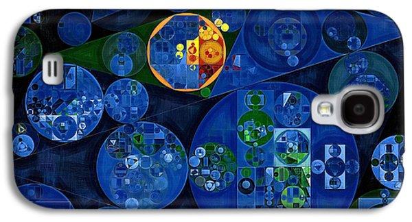 Abstract Painting - Dark Midnight Blue Galaxy S4 Case by Vitaliy Gladkiy
