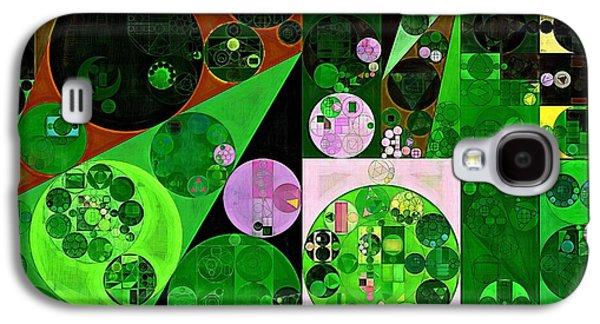 Abstract Painting - Deep Fir Galaxy S4 Case