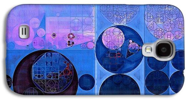 Abstract Painting - Han Blue Galaxy S4 Case by Vitaliy Gladkiy
