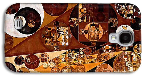 Abstract Painting - Light Brown Galaxy S4 Case by Vitaliy Gladkiy
