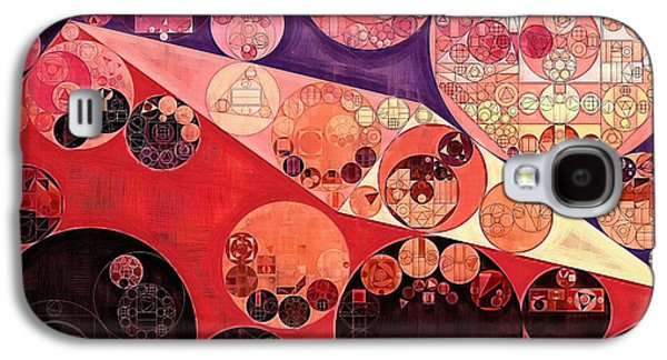 Abstract Painting - Milano Red Galaxy S4 Case by Vitaliy Gladkiy