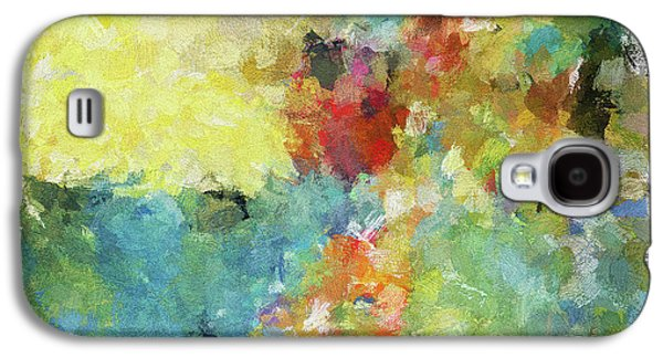 Abstract Seascape Painting Galaxy S4 Case by Ayse Deniz