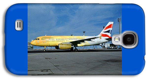 Airbus A319-131, British Airways, G-eupc, Olympic Torch Relay, O Galaxy S4 Case by Wernher Krutein