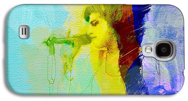 British Paintings Galaxy S4 Cases - Amy Winehouse Galaxy S4 Case by Naxart Studio