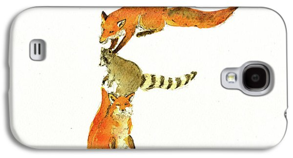 Raccoon Galaxy S4 Case - Animal Letter by Juan Bosco