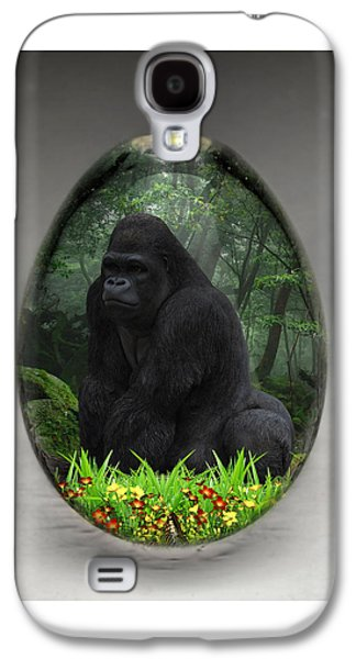 Ape Gorilla Art Galaxy S4 Case