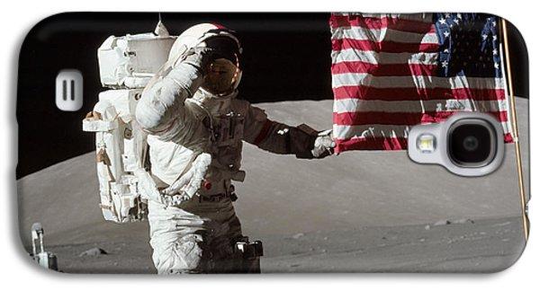 Apollo 17 Astronaut Salutes The United Galaxy S4 Case