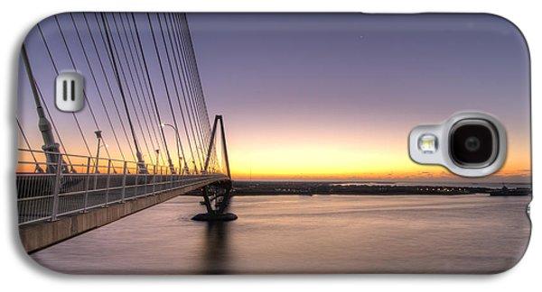 Arthur Ravenel Jr Bridge Sunrise Galaxy S4 Case by Dustin K Ryan
