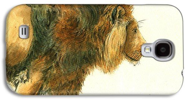Asiatic Lion Galaxy S4 Case by Juan Bosco
