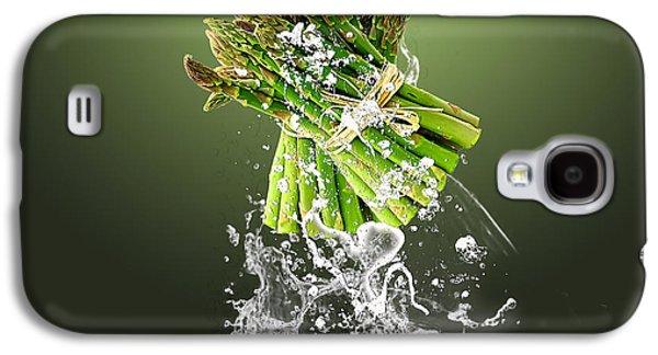 Asparagus Splash Galaxy S4 Case by Marvin Blaine