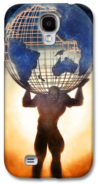 Atlas And The Luminous Universe Galaxy S4 Case