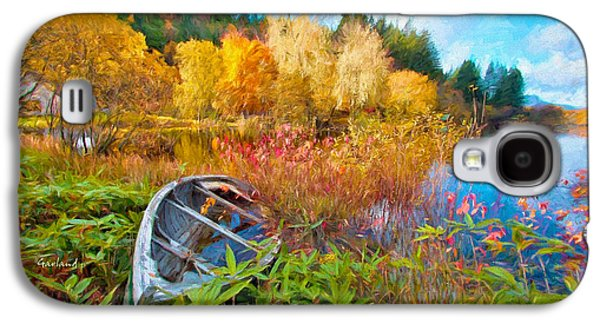 Autumn Comes To The Lake Galaxy S4 Case