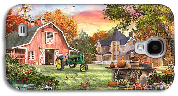 Geese Galaxy S4 Case - Autumn Farm by Dominic Davison