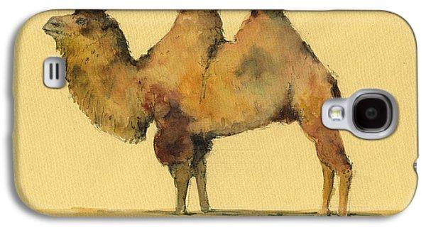 Camel Galaxy S4 Case - Bactrian Camel by Juan  Bosco
